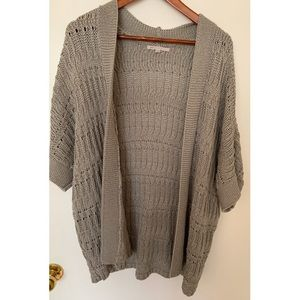 GAP Grey Chunky Cable Sweater